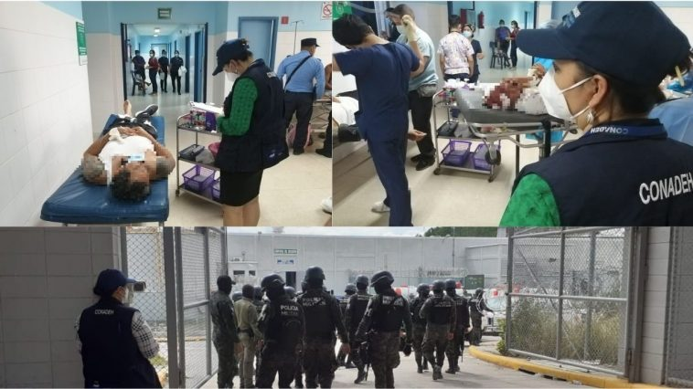 heridos en la carcel
