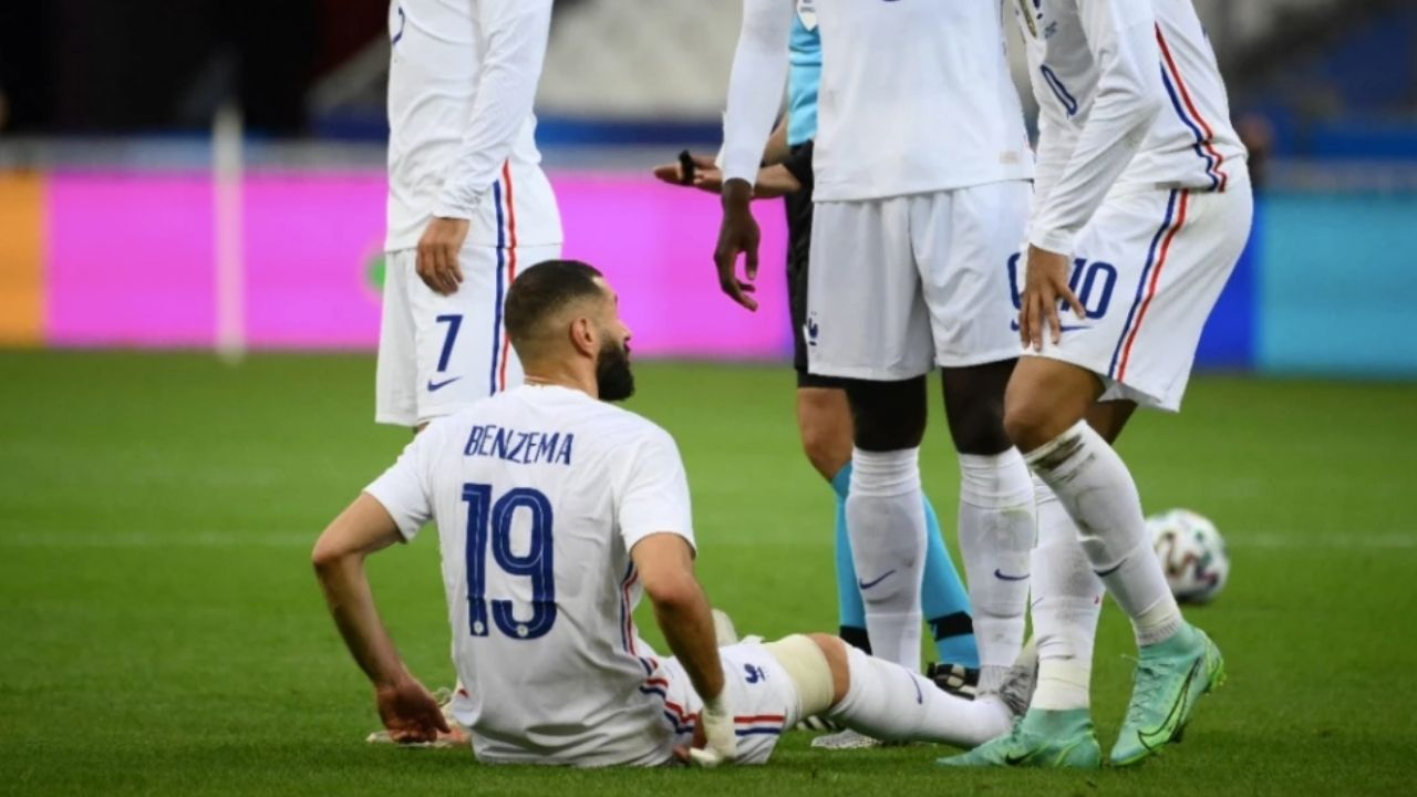 Karim Benzema se lesiona a pocos días de la Eurocopa
