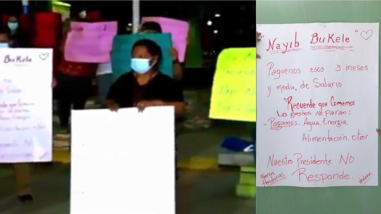 Médicos del centro de triaje de Choloma se declaran en calamidad y piden pago de salarios a Nayib Bukele