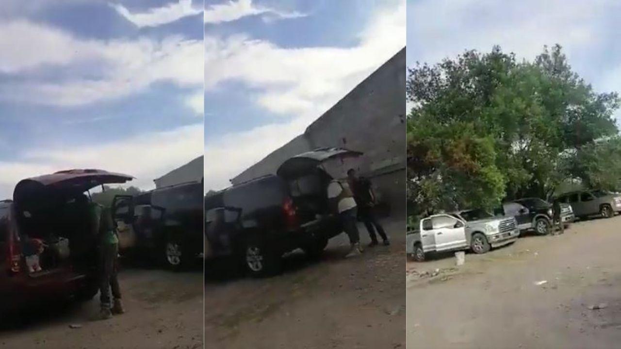 Narcos mexicanos se graban mientras roban camionetas a plena luz del día en Tamaulipas, este video ya es viral