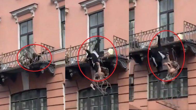 Pareja balcón