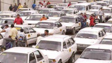 taxista en protesta
