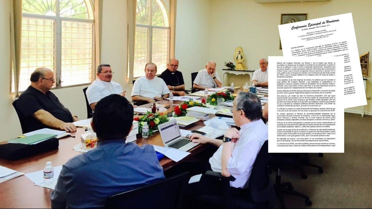 Conferencia Episcopal de Honduras se declara en contra de las ZEDE y envía duro mensaje a diputados