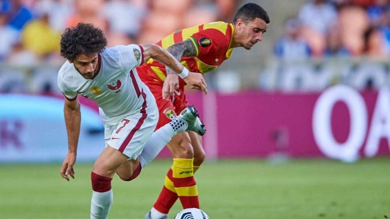 Catar goleó a Granada y peleará con Panamá el segundo boleto a los cuartos de final en la Copa Oro 2021