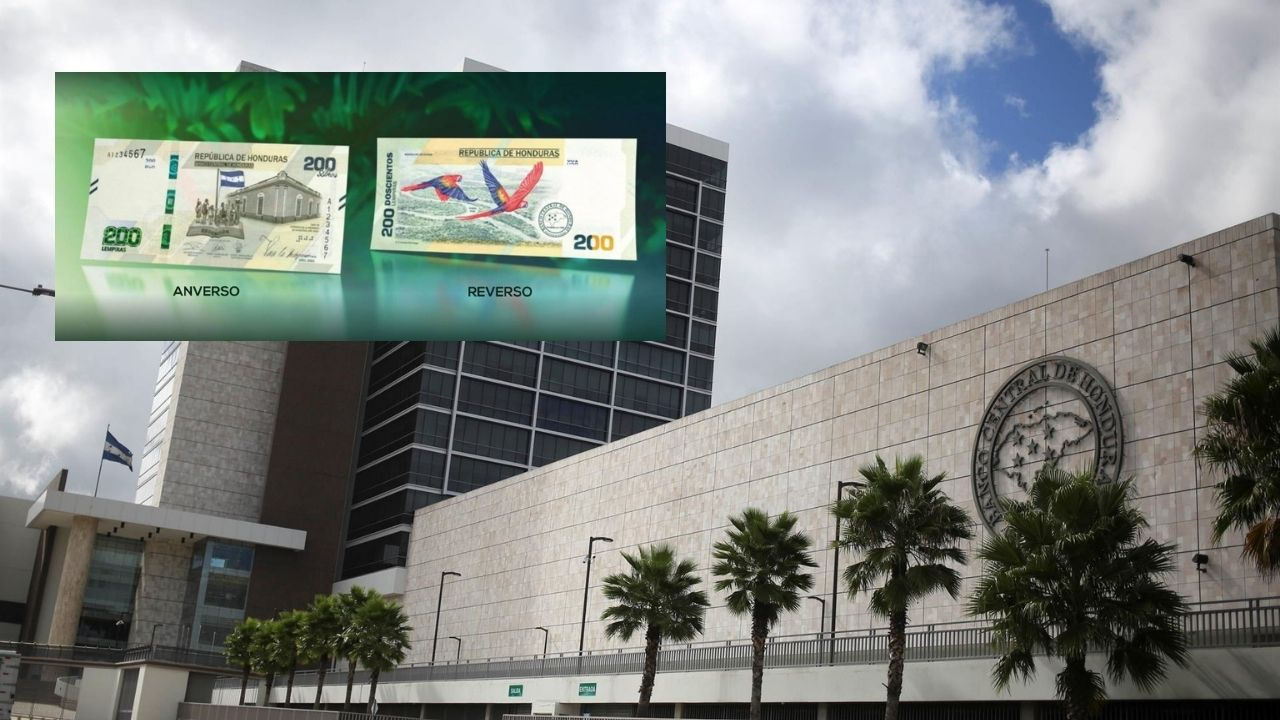 Honduras presenta diseño de billete que alude a bicentenario de independencia