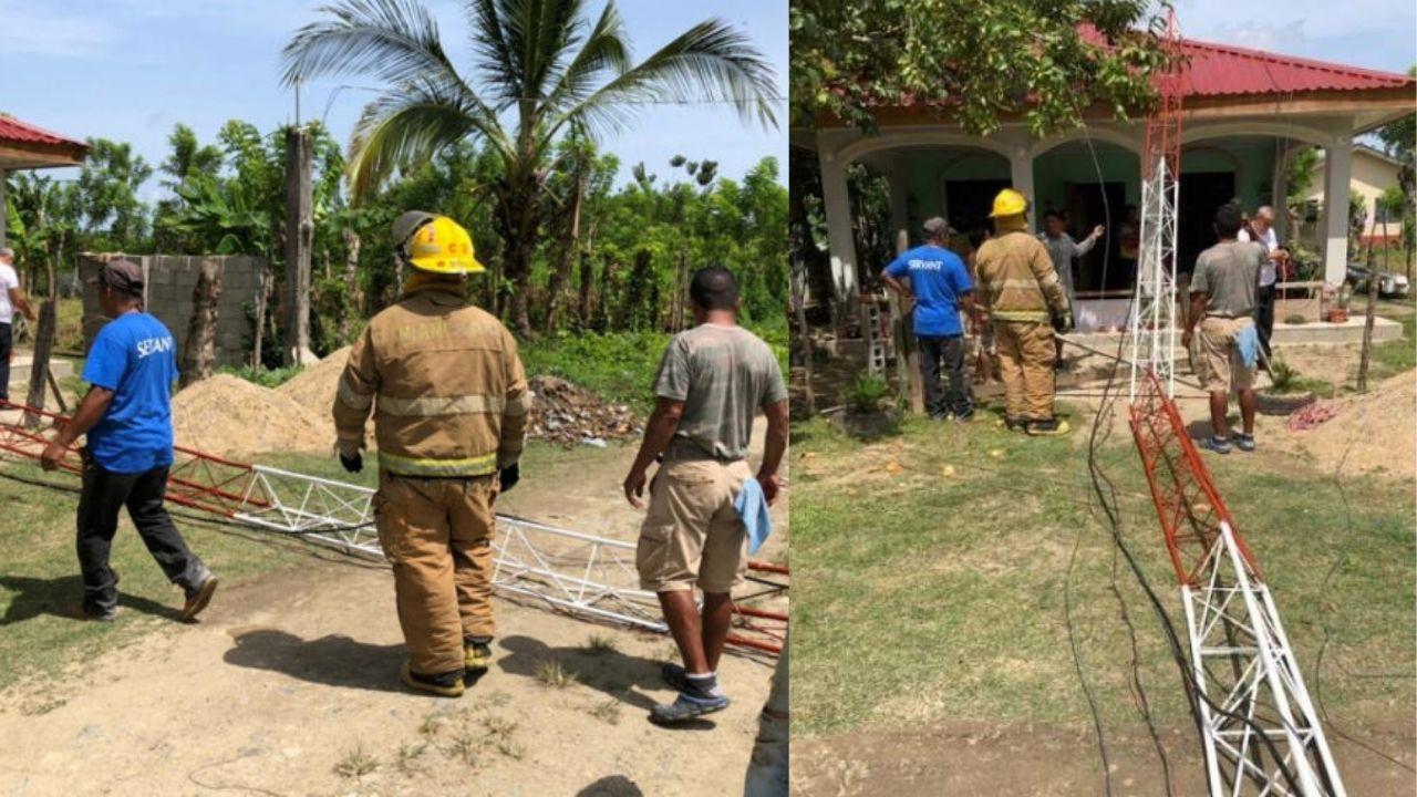 Dos jóvenes que trabajaban en antena radial mueren tras desplomarse sobre ellos en La Másica, Honduras