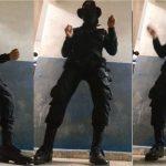 policia salvadoreño baila al ritmo del regueton