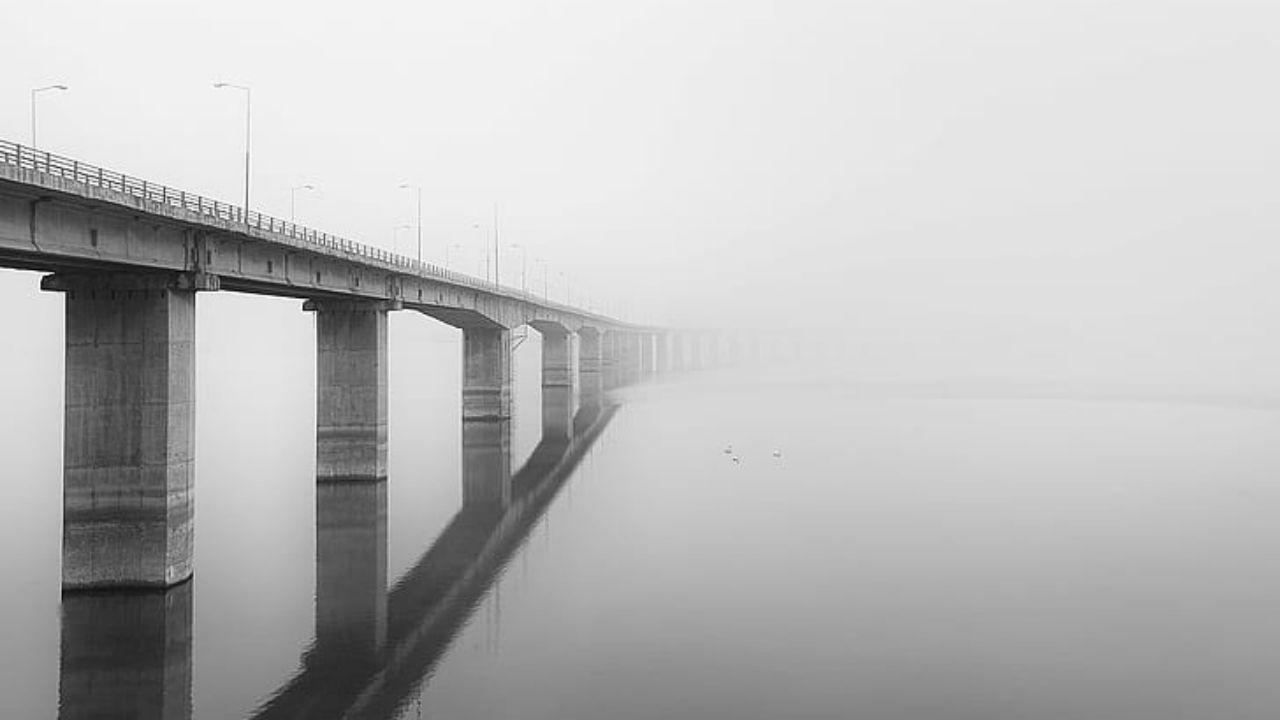 Así captó cámara el dramático rescate de mujer que pretendía lanzarse de un gigantesco puente