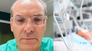 medico le cumple promesa a paciente covid luego de ser incubado