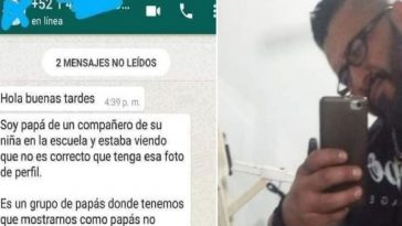 foto de perfil de whatasapp junto a collage de hombre