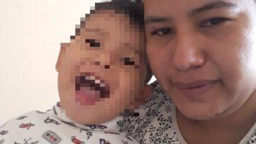 migrante hondureña junto en mexico o a su bebe