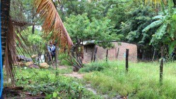 agentes policiales en casa donde se suscito una masacre en comayagua, honduras