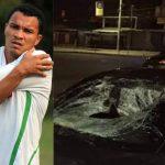 rambo de leon en college con vehiculo accidentado al causar muerte de operario en cortes honduras
