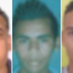 Fotos de rostros del transportistas y los dos policías acusados de secuestro de un menor en El Paraíso, Honduras