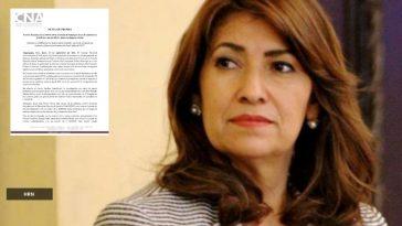 alba consuelo flores collage de documento de acusación del consejo nacional anticorrupcion