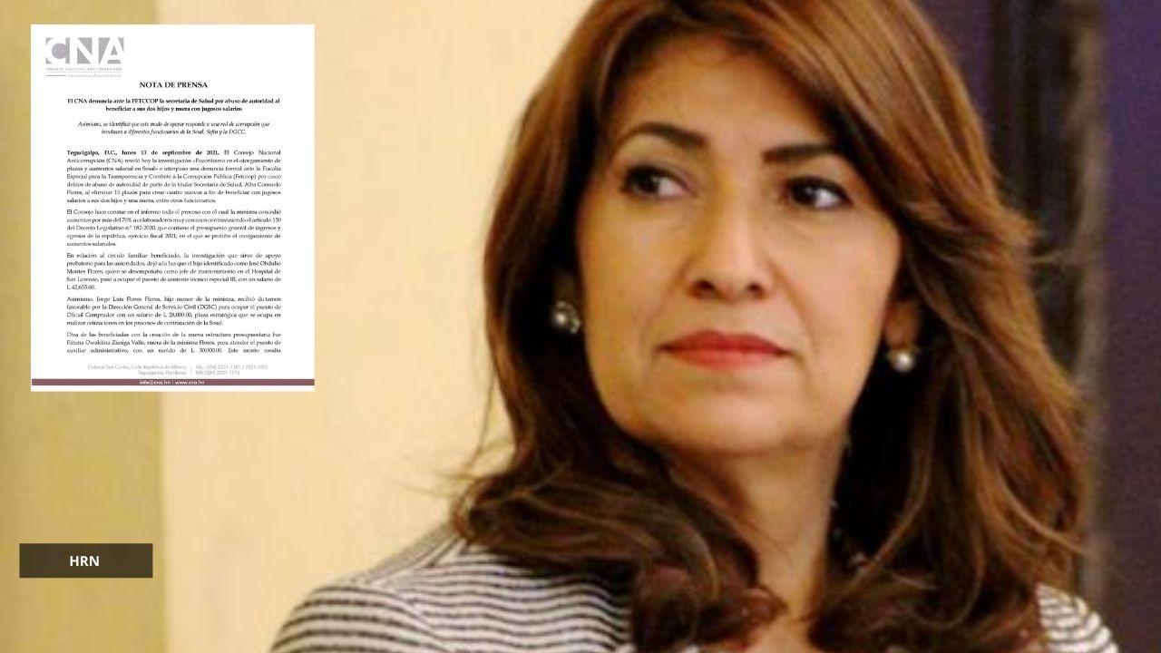 'No es mi hijo': Ministra de Salud aclara qué hay detrás de la denuncia del CNA sobre jugosos salarios a familiares