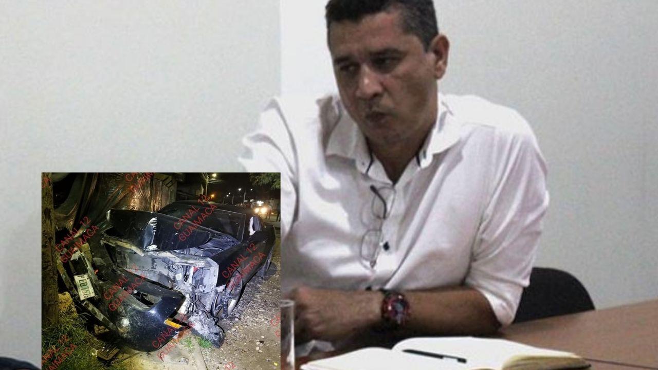 Alcalde hondureño que aceptó su adicción a la cocaína se estrelló con su auto deportivo en Guaimaca