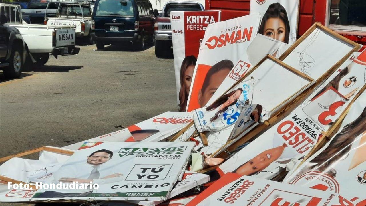 Enee anunció el decomiso de propaganda política que se encuentre en sus postes eléctricos