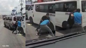 conductores de buses rapiditos se van a los golpes en san pedro sula