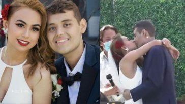 joven pareja se casa en estados Unidos, el novio padece cancer