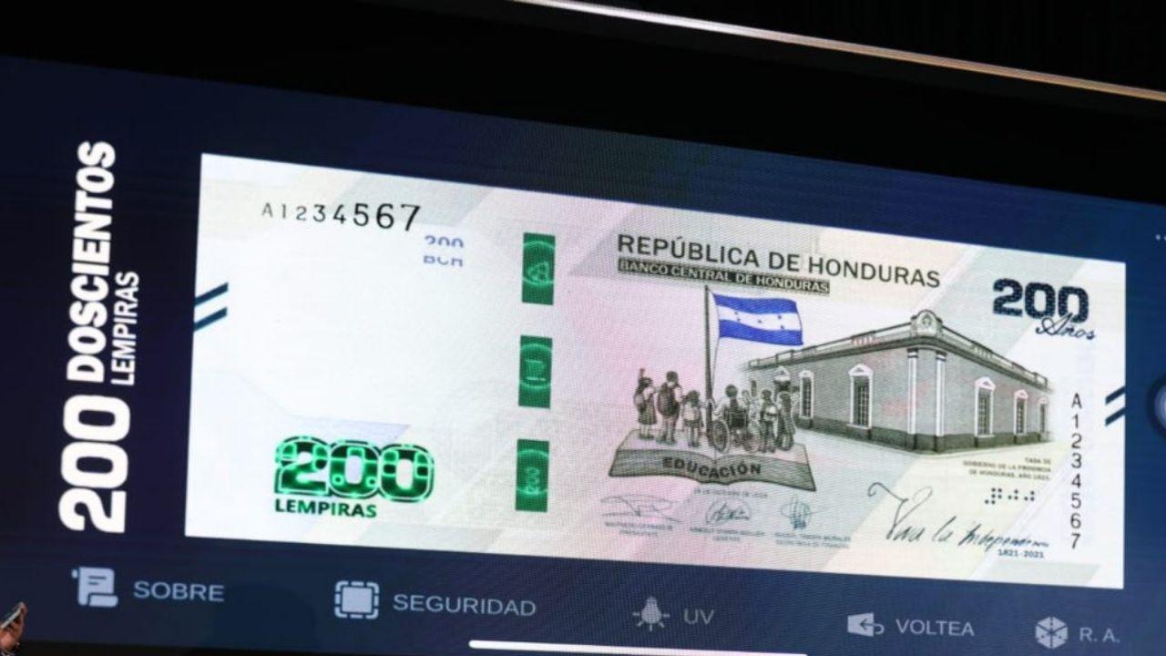 Lo que debes saber del billete de 200 lempiras que ya circula en Honduras