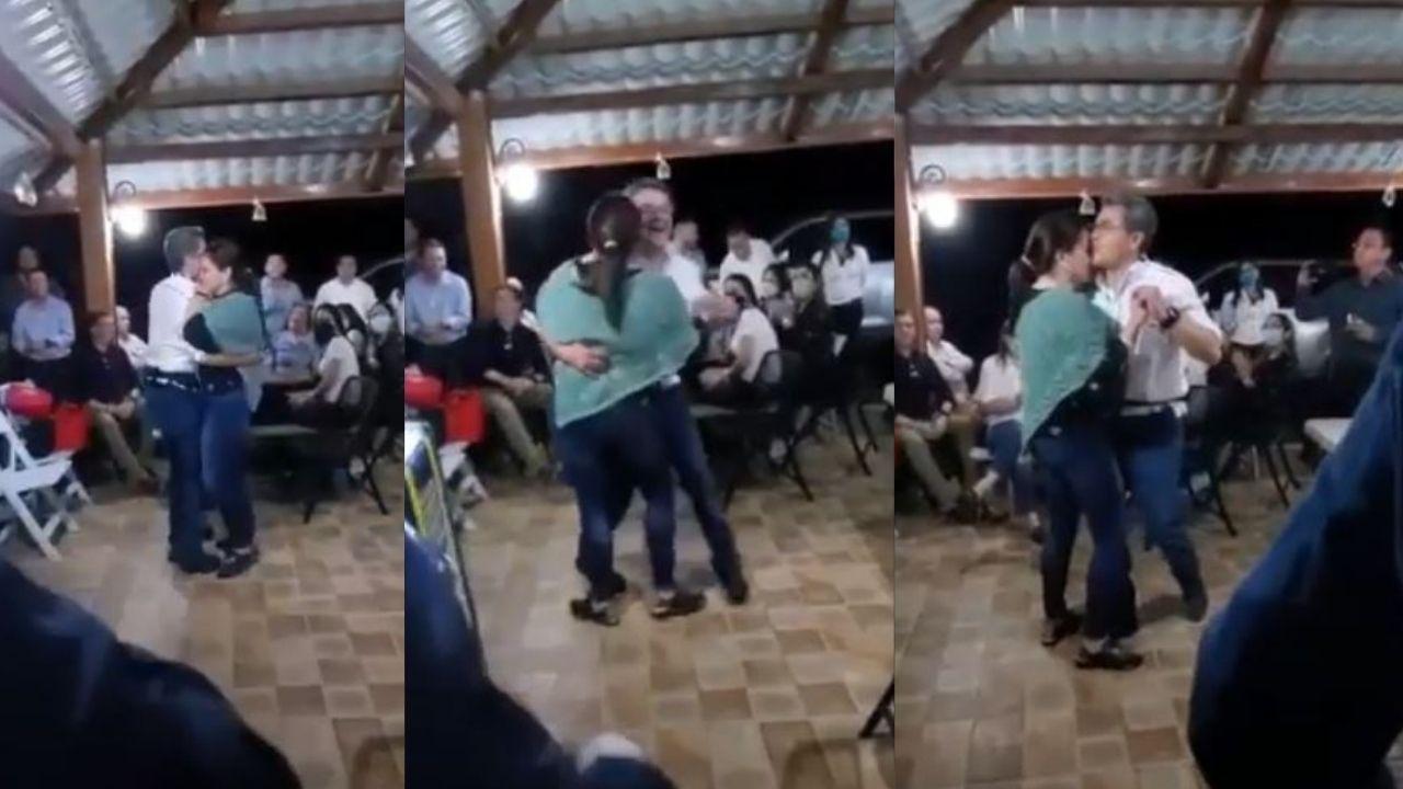 El romántico baile del presidente Hernández y su esposa en reunión nacionalista que ya es viral en redes