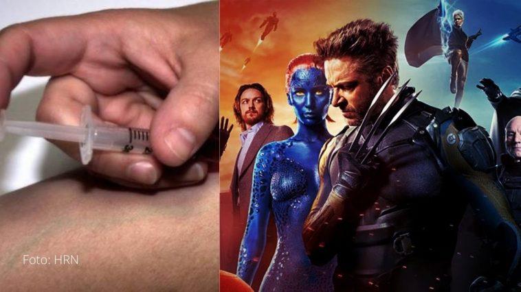 joven se inyecto en el brazo sustancia para convertirse en un x-men