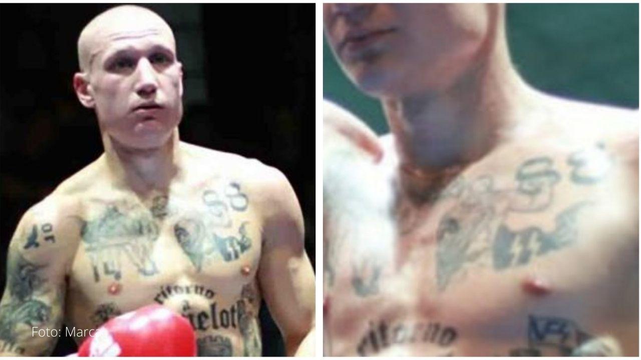 Un boxeador fue suspendido por los mensajes que tenía en sus tatuajes