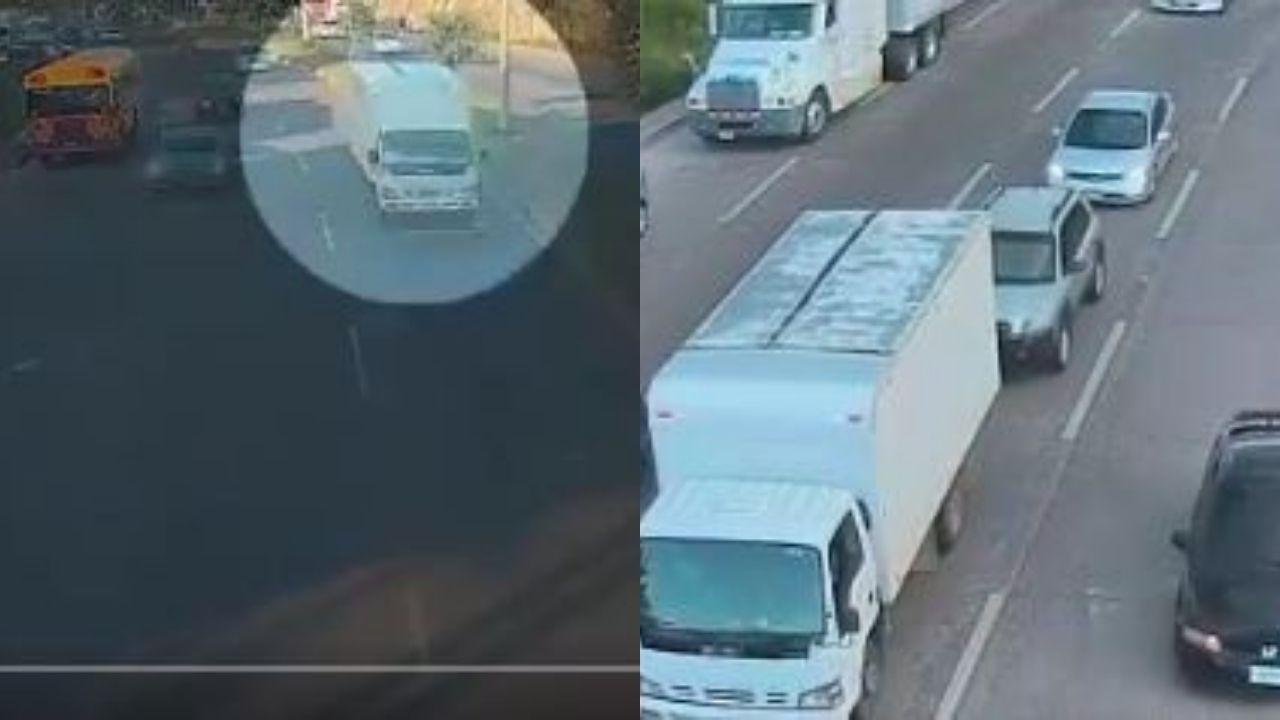 En camión llevaban secuestrado a hondureño; video muestra cómo fue liberado de sus raptores