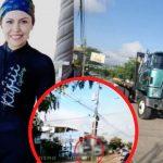 Maira Andino ciclista hondureña en Comayagua