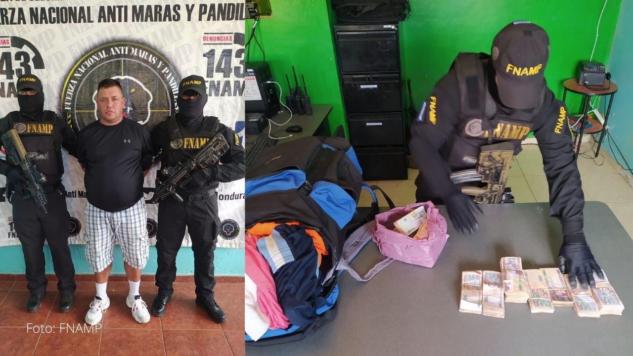 Colombiano fue capturado con más de un millón de lempiras producto de la extorsión en La Ceiba