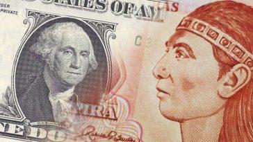 Collage de un dólar y un lempira