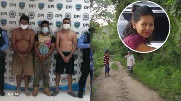 jovenes son custodiados por agentes de la dpi por el asesinato de joven
