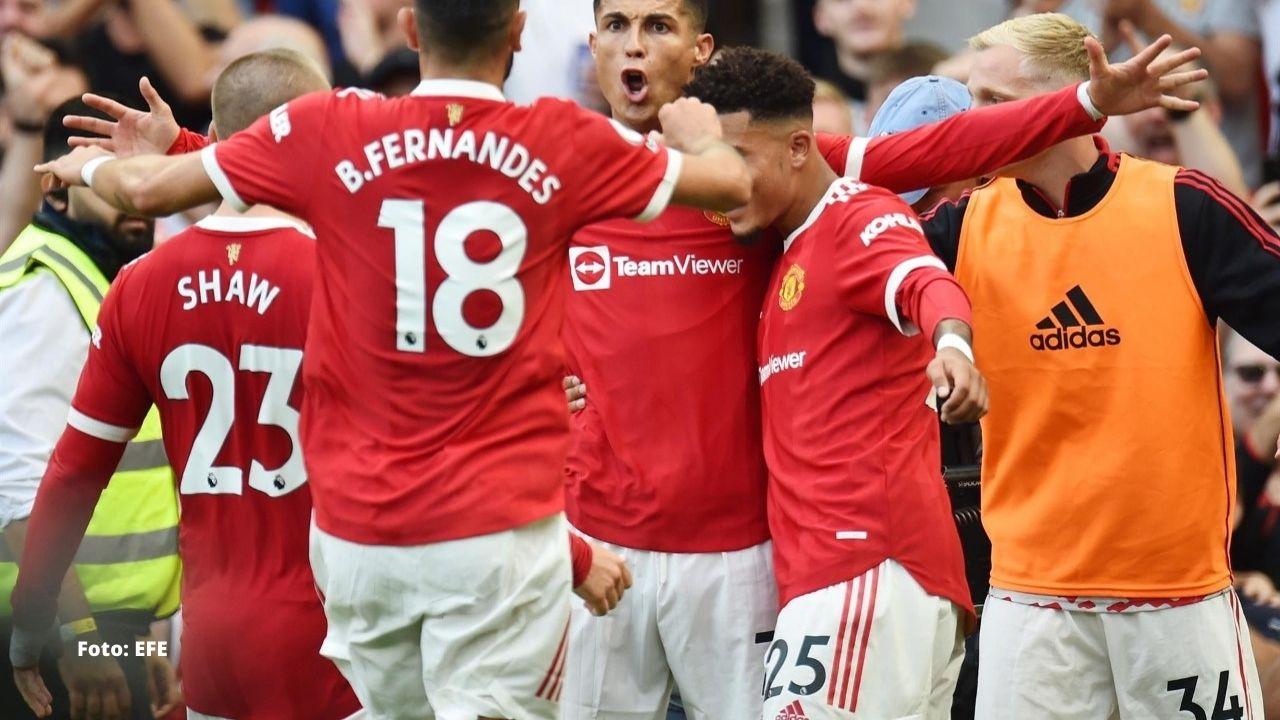 Cristiano celebra su regreso al Old Trafford con doblete y el liderato del Manchester United