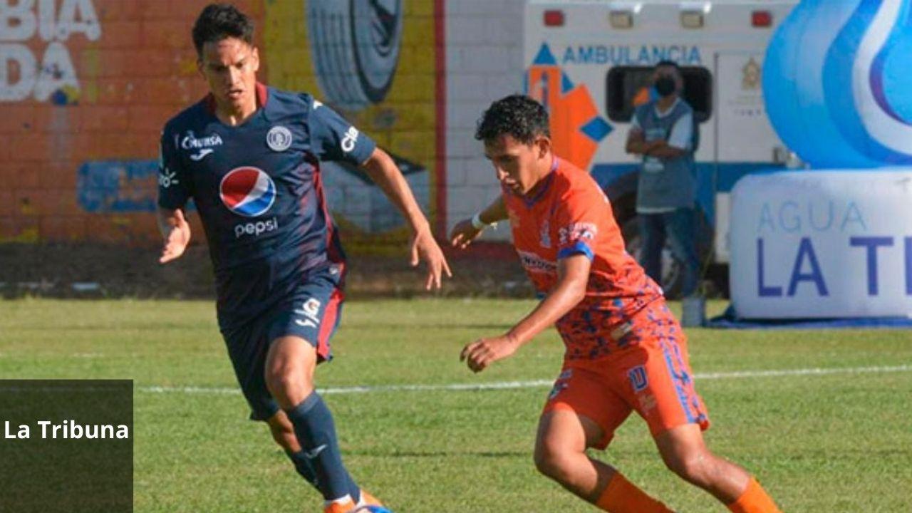 Lobos de la UPN y Motagua empatan en un partidazo que se jugó en Danlí