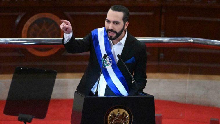 Presidente de El Salvador, Nayib Bukele en Asamblea Legislativa