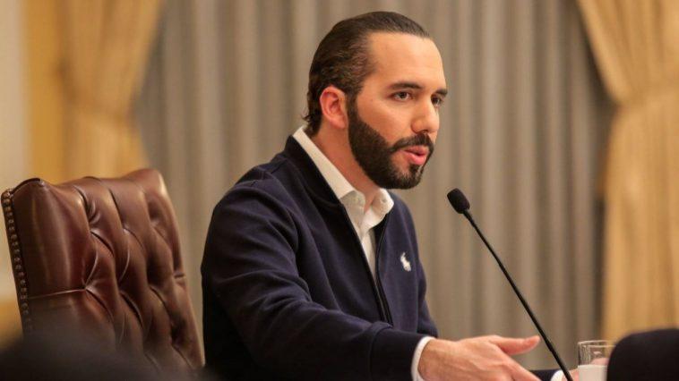 Presidente de El Salvador, Nayib Bukele durante una conferencia