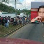 gente observando el accidente ocasionado por rastra en baracoa, cortes