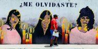 Mural de casos de feminicidios Honduras