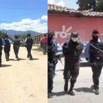 dos policias son capturados y custodiados por agentes en honduras