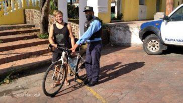 entregan bicicleta robada a aleman en choluteca