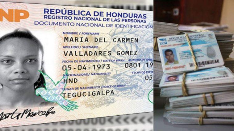 mujer aparece en nueva tarjeta de identidad en honduras