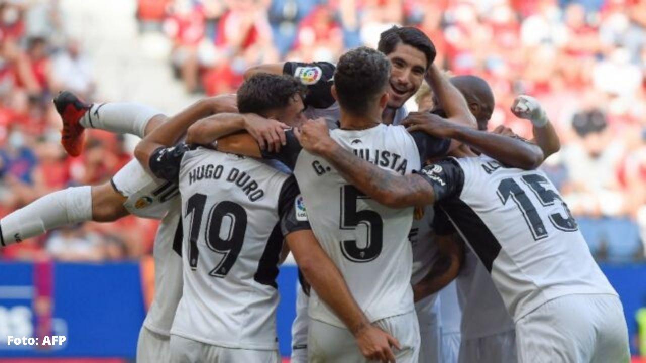 El Valencia se pone líder en LaLiga tras ganar 4-1 al Osasuna