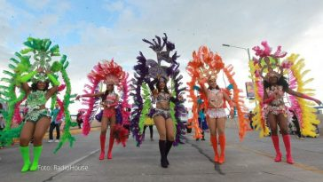 hondureñas disfrazadas en carnaval de tegucigalpa