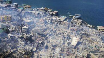 El Cayo, en Guanaja, devastado por el incendio