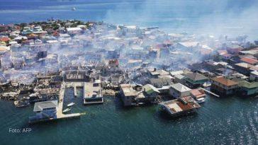 incendio consumio varias viviendas en guanaja