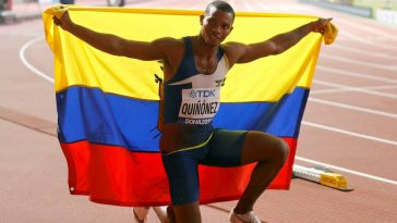 Atleta ecuatoriano Alex Quiñónez