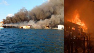 Incendio en Guanaja, Islas de la Bahía