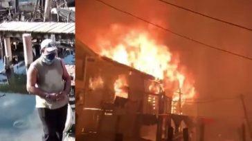 Incendio en Guanaja