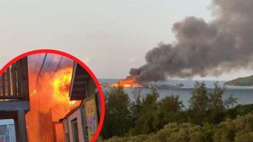 Incendio consume más de 40 viviendas.